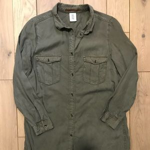H&M &Denim Olive Extra Long Explorers Shirt/ Dress